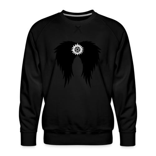 Supernatural wings (vector) Hoodies & Sweatshirts - Men's Premium Sweatshirt