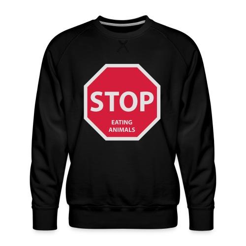 Stop-Eating-Animals - Männer Premium Pullover