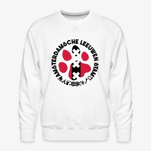 ALS witte cirkel lichtshi - Mannen premium sweater