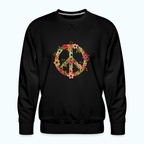 Peace Hippie Flower Power - Men's Premium Sweatshirt