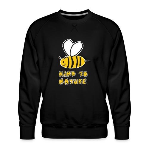 Bee kind to nature Bienen retten - Männer Premium Pullover