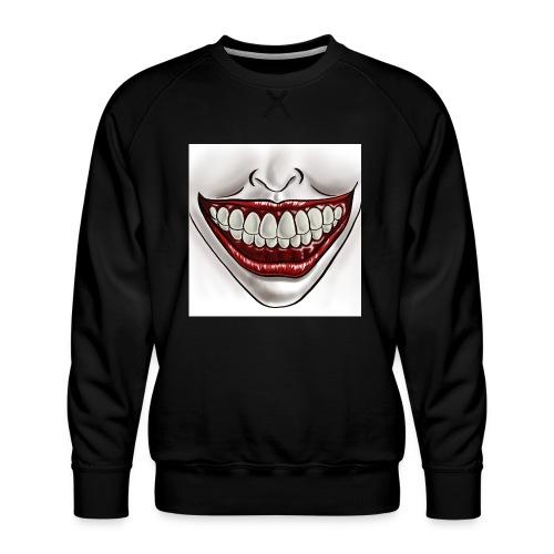 Smile Maske - Männer Premium Pullover