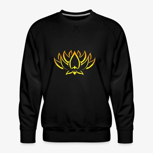Lotus tribal Or - Sweat ras-du-cou Premium Homme