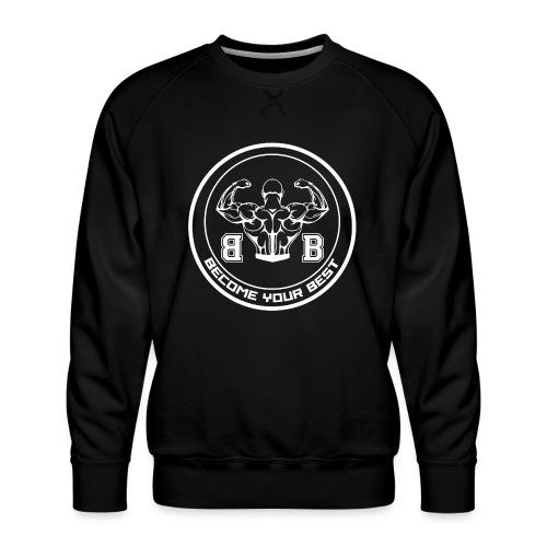 BYB logo white - Herre premium sweatshirt