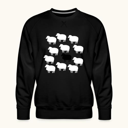 Lustige Schafherde Schwarzes Schaf Geschenkidee - Sweat ras-du-cou Premium Homme