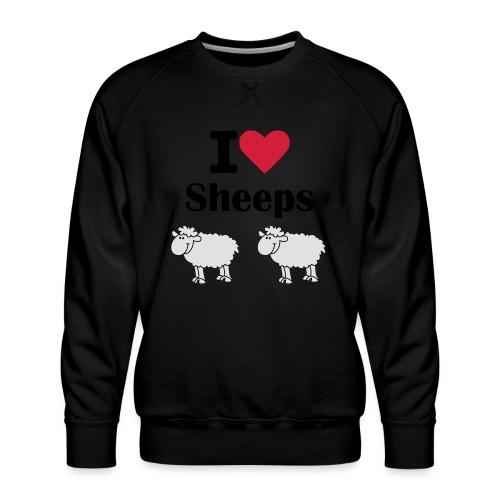 I-love-sheeps - Sweat ras-du-cou Premium Homme