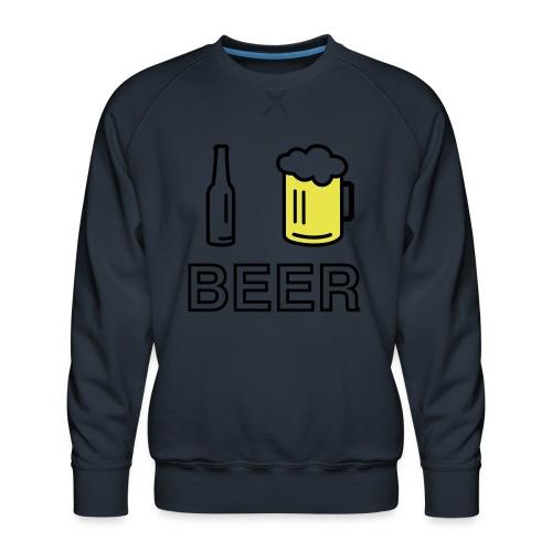 I Love Beer (2-farbig) - Männer Premium Pullover