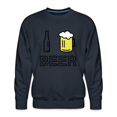 I Love Beer (3-farbig) - Männer Premium Pullover