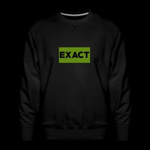 Exact Classic Green Logo - Men's Premium Sweatshirt