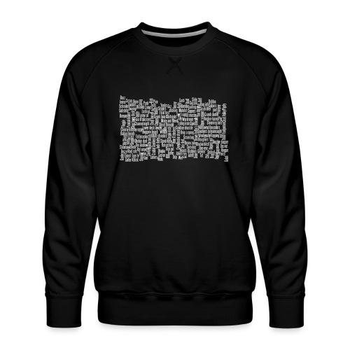 Jackspeak (white) - Men's Premium Sweatshirt