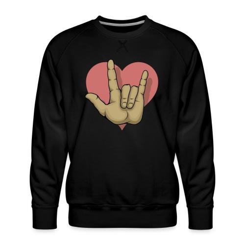 ILY mitHerz - Männer Premium Pullover