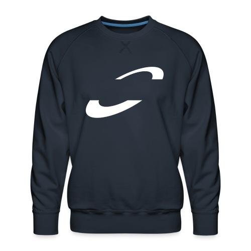 Planet Cycling Icon White - Men's Premium Sweatshirt