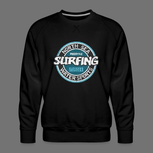 North Sea Surfing (oldstyle) - Herre premium sweatshirt