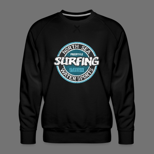 North Sea Surfing (oldstyle) - Men's Premium Sweatshirt