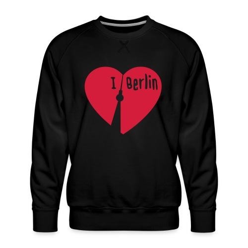 I love Berlin (1-farbig) - Männer Premium Pullover