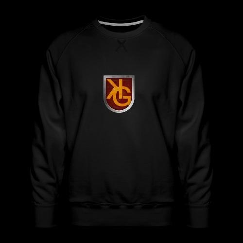 KG logo - Miesten premium-collegepaita