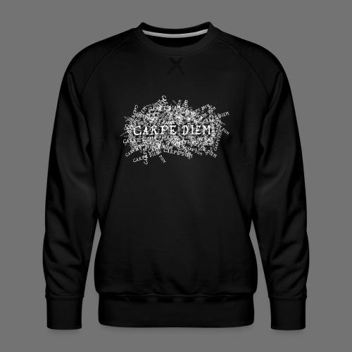 carpe diem (hvid) - Herre premium sweatshirt
