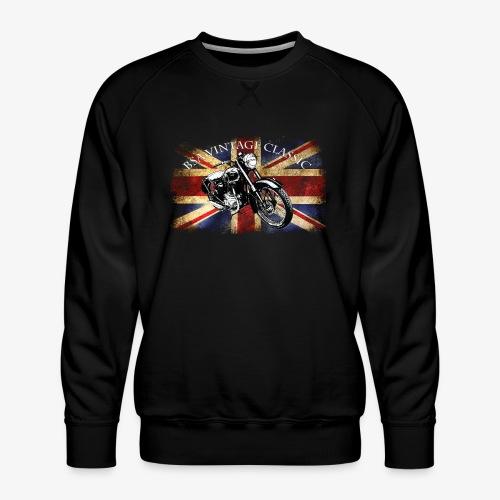 Vintage famous Brittish BSA motorcycle icon - Men's Premium Sweatshirt
