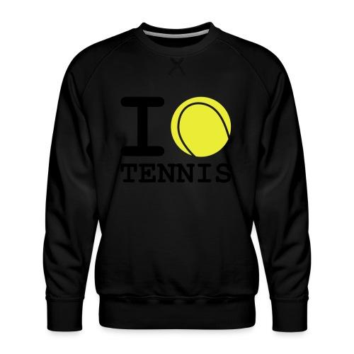 i love tennis - Sweat ras-du-cou Premium Homme