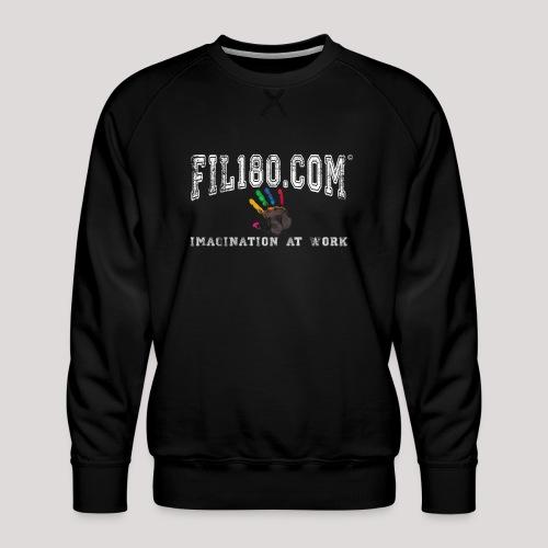FIL180 Hoody WHITE - Men's Premium Sweatshirt