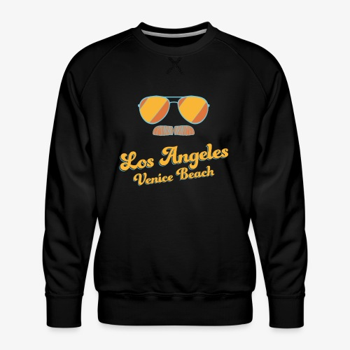 Los Angeles Venice Beach - Sunglasses - Mustache - Männer Premium Pullover
