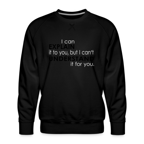 I can EXPLAIN it to you... - Männer Premium Pullover