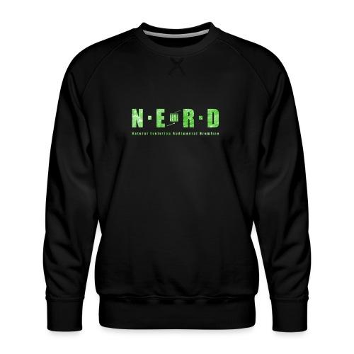 NERD Green - Herre premium sweatshirt