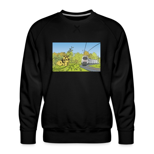Raupe und Zug - Männer Premium Pullover