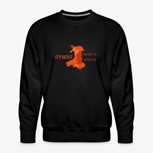 Cymru - Latitude / Longitude - Men's Premium Sweatshirt