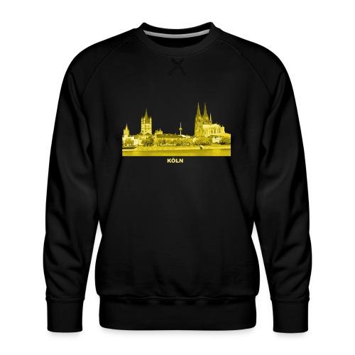 Köln Dom Rhein Nordrhein-Westfalen Deutschland - Männer Premium Pullover