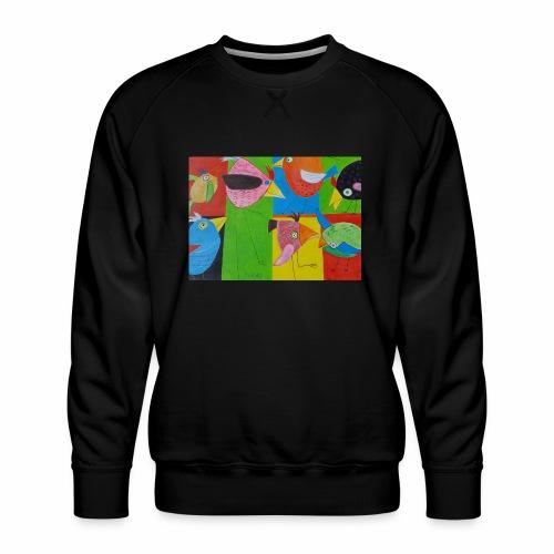 Lovebirds - Liebesvögel - Männer Premium Pullover