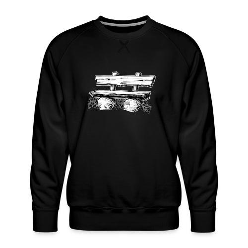 995 Bank hout outline - Mannen premium sweater