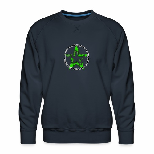 ra star slogan slime png - Männer Premium Pullover