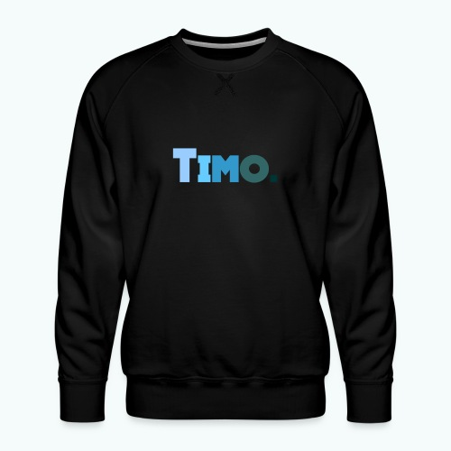 Timo in blauwe tinten - Mannen premium sweater