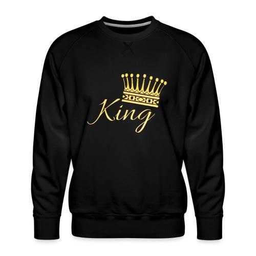 King Or by T-shirt chic et choc - Sweat ras-du-cou Premium Homme