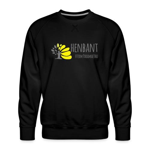 henbant logo - Men's Premium Sweatshirt