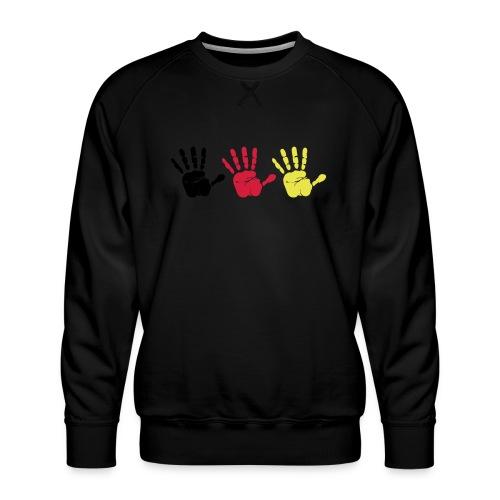 Handabdruck Trio - Männer Premium Pullover