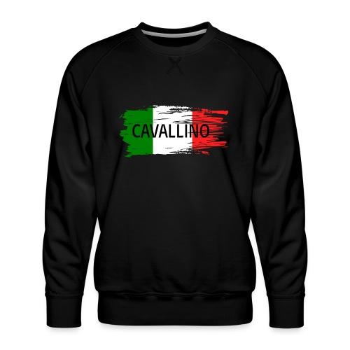 Cavallino auf Flagge - Männer Premium Pullover
