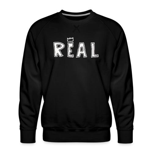REAL (White) - Mannen premium sweater