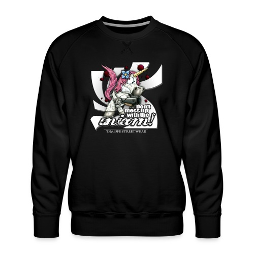 Don't mess up with the unicorn - Männer Premium Pullover
