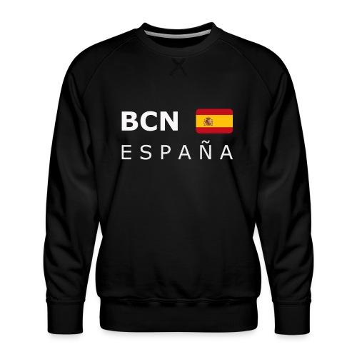 BCN ESPAÑA white-lettered 400 dpi - Men's Premium Sweatshirt