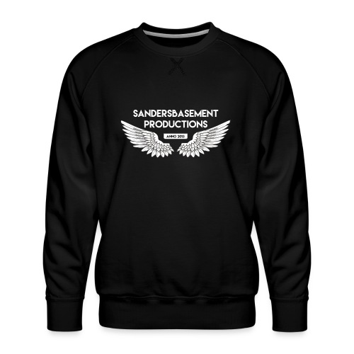 T SHIRT logo wit png png - Mannen premium sweater