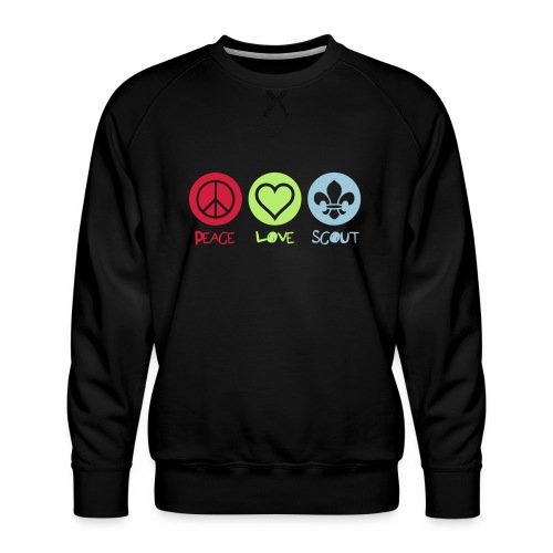 Peace Love Scout - Sweat ras-du-cou Premium Homme