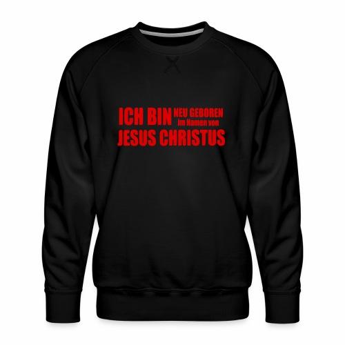 Neu geboren - rot - Männer Premium Pullover