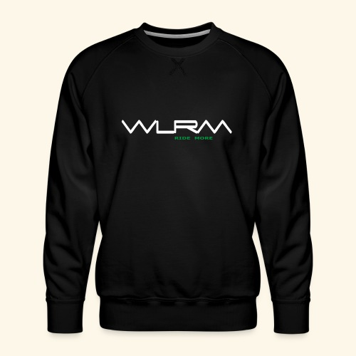WLRM Schriftzug white png - Männer Premium Pullover