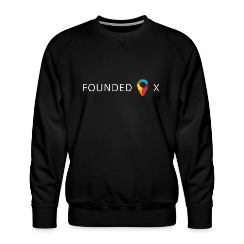 FoundedX logo white png - Men's Premium Sweatshirt