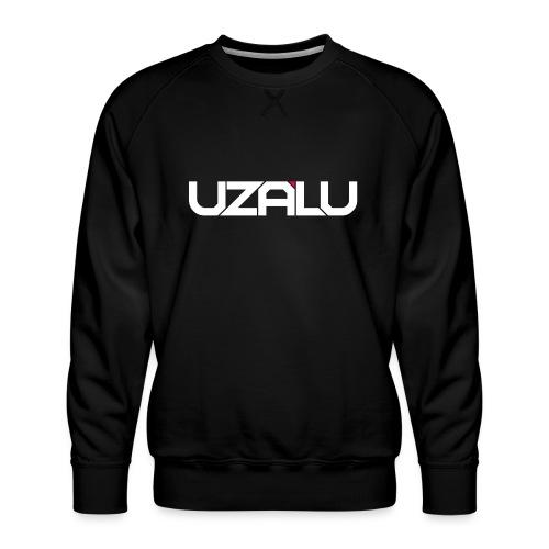 uzalu Text Logo - Men's Premium Sweatshirt
