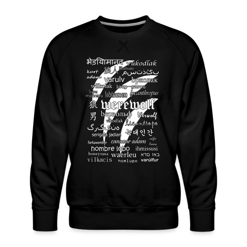 Werewolf in 33 Languages (Black Version) - Bluza męska Premium