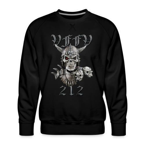 Viking skull rød stor png - Herre premium sweatshirt