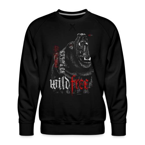 WILDFREE   BEAR - Männer Premium Pullover